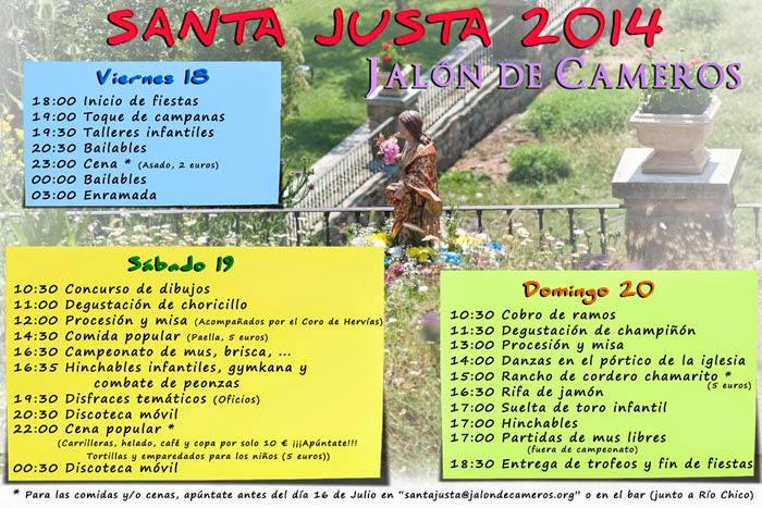 18 a 20 de julio. Fiestas de Santa Justa en Jalón de Cameros