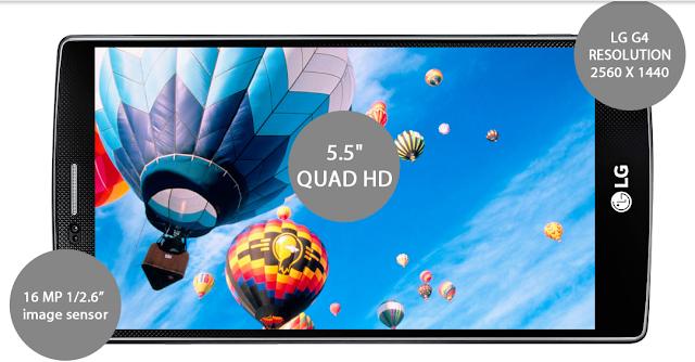 Spesifikasi yang menawan LG G4