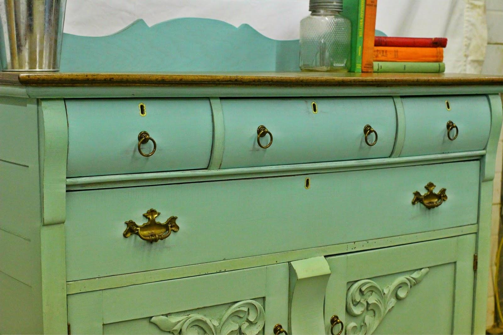 laurel 39 s attic turquoise antique buffet sold. Black Bedroom Furniture Sets. Home Design Ideas