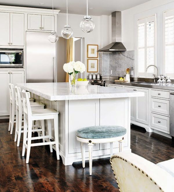 i like this clean and crisp look and i love the white counter top