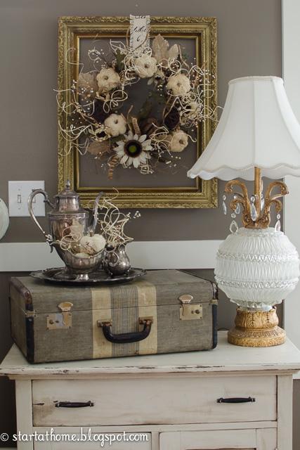 start at home fall decorating part 1. Black Bedroom Furniture Sets. Home Design Ideas
