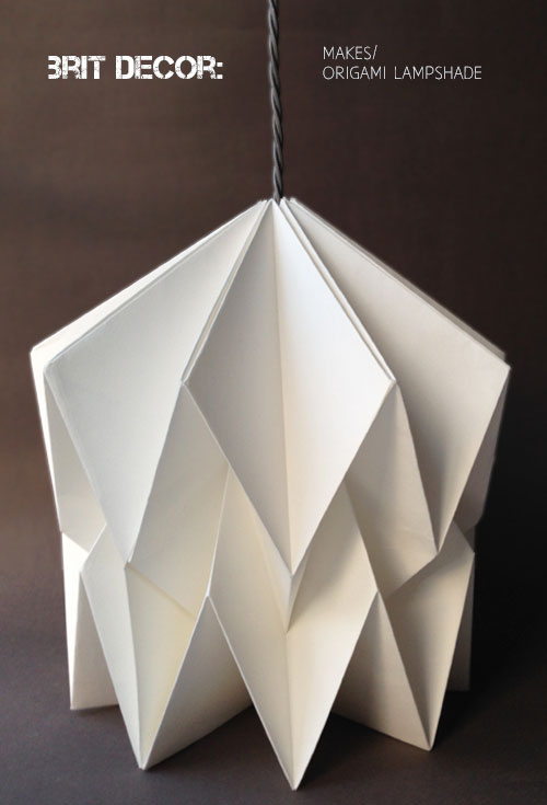 Brit Decor Home Page Brit Decor Makes Origami Lampshade