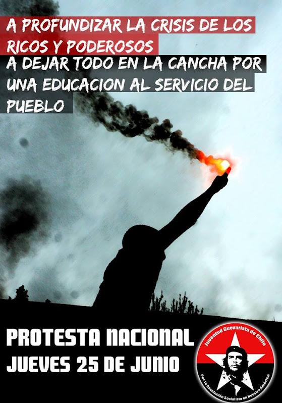 CHILE: PROTESTA NACIONAL, A PROFUNDIZAR LA CRISIS DE LOS RICOS Y PODEROSOS