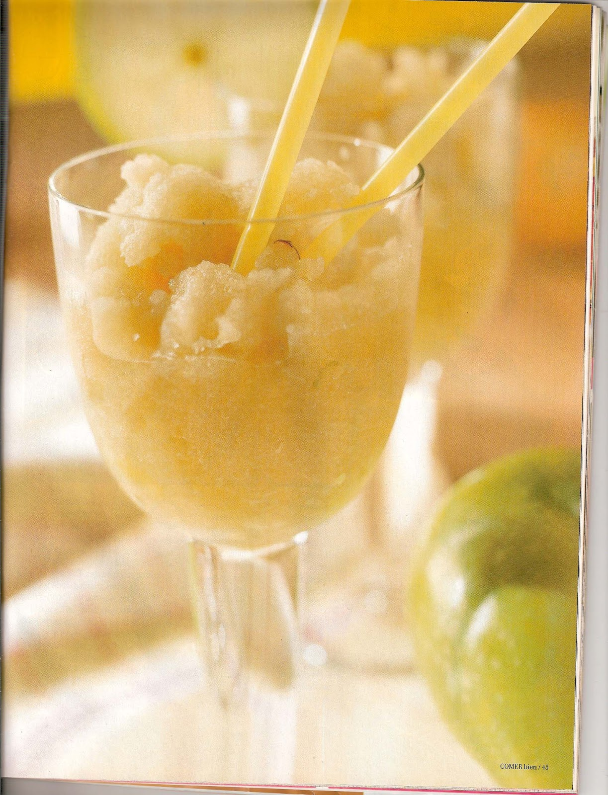 Recetas de cocina de paz y marques sorbete de manzana - Sorbete de manzana verde ...