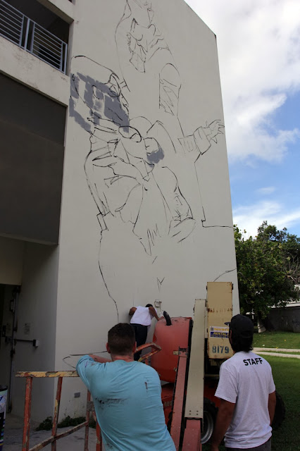 Work In Progress By Irish Street Artist Conor Harrington For Los Muros Hablan 2013. 3
