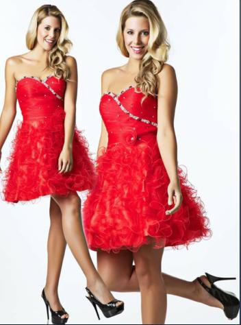 Colección Vestidos de NocheVieja 2012 rojo corto
