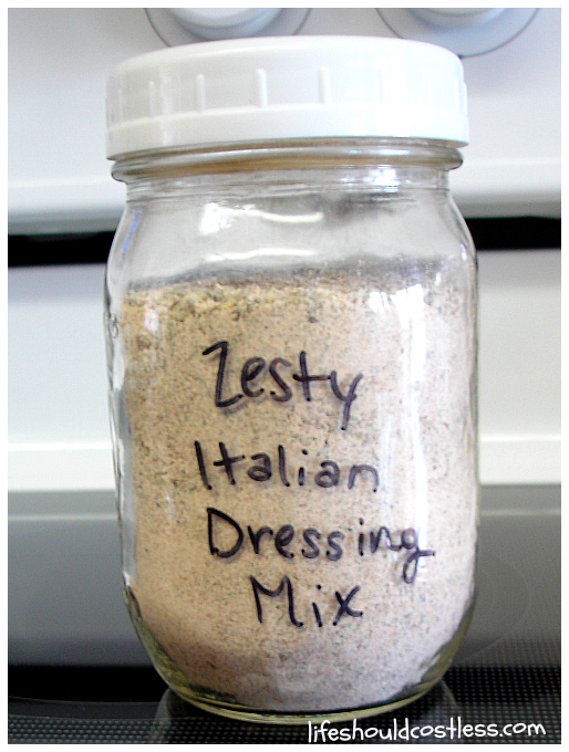 Bulk Zesty Italian Dressing Mix Recipe. |LIFE SHOULD COST LESS