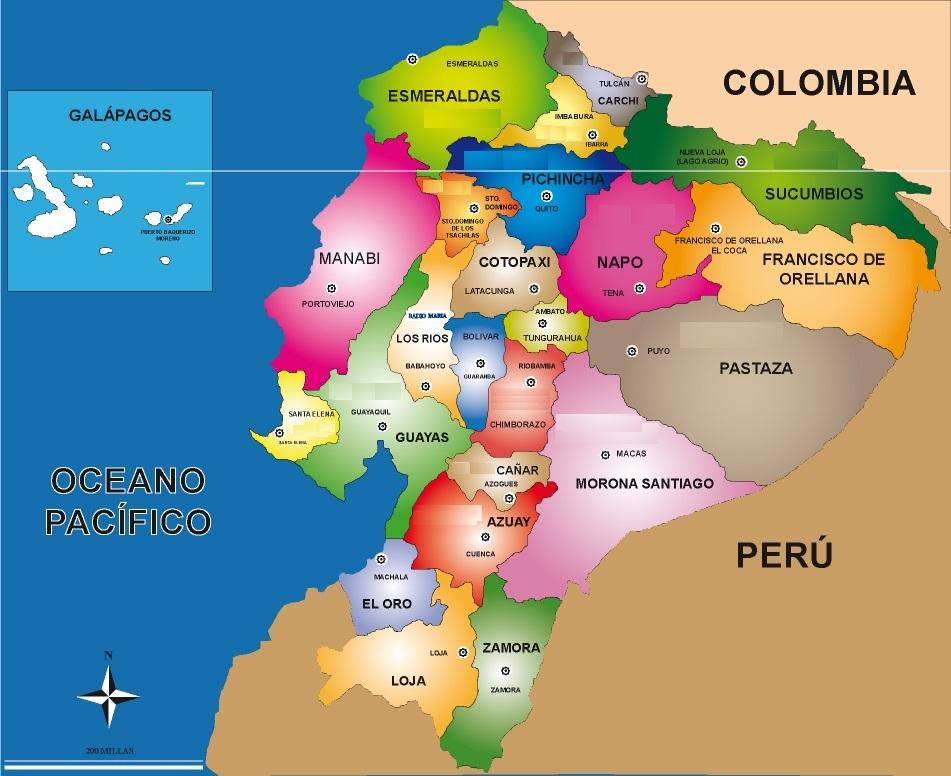 ecuador y capitales: