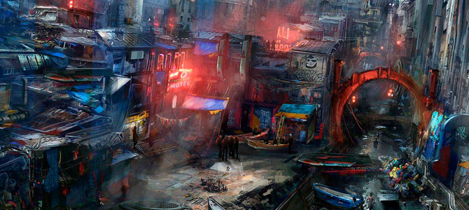 barrios bajos cyberpunk