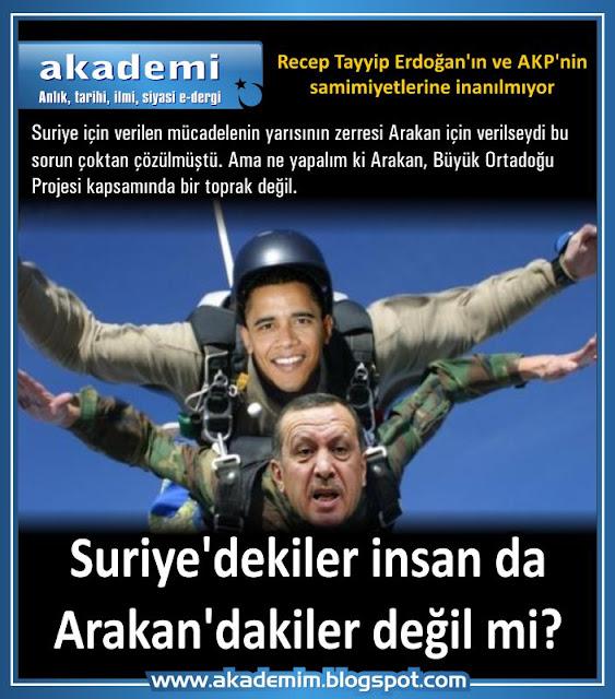 Suriye'dekiler insan da Arakan'dakiler değil mi? Recep Tayyip Erdoğan'ın ve AKP'nin samimiyetlerine inanılmıyor