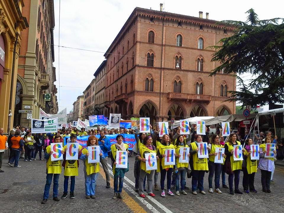 Italian March Against Chemtrails, Bologna 2015