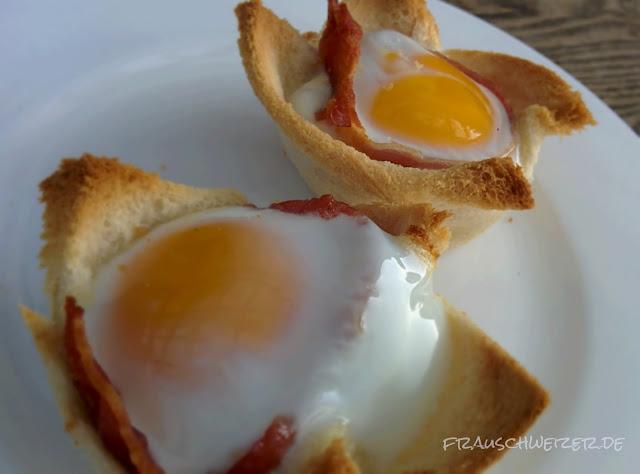 Das Rezept für gebackene Eier 1