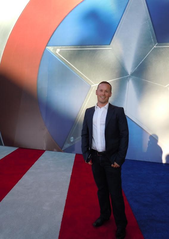 Jason at Captain America premiere