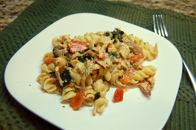 Penne, Chicken, Spinach and Tomato