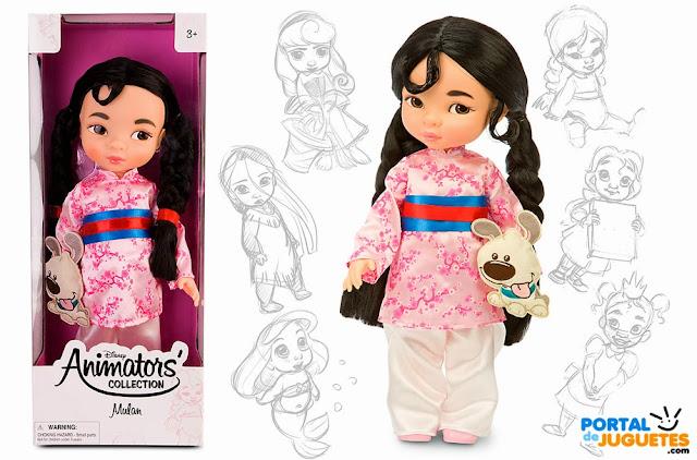muñeca mulan coleccion animators