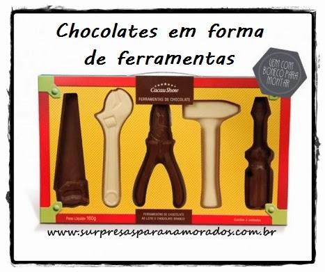 caixa de chocolates de ferramentas