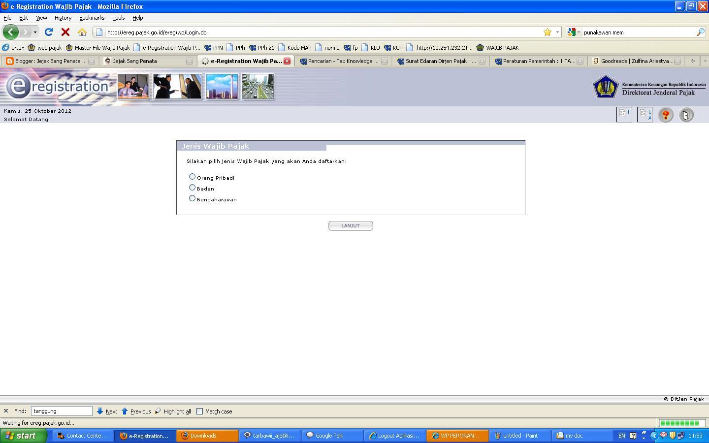Cara Pengisian Registrasi Npwp Online
