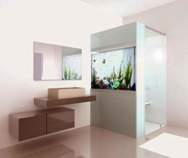 acuario en la ducha
