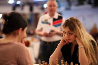 La Française Almira Skripchenko (2468) au championnat d'europe féminin d'échecs © site officiel