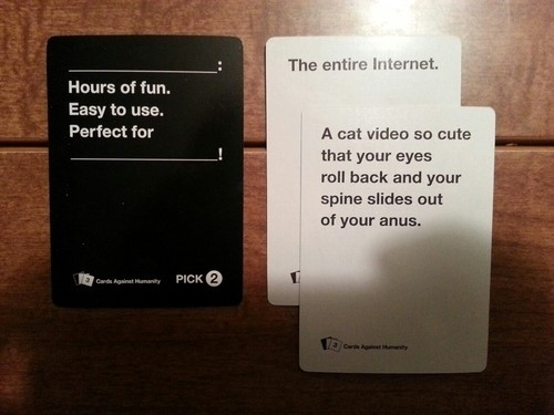 Cards Against Humanity Game Playing