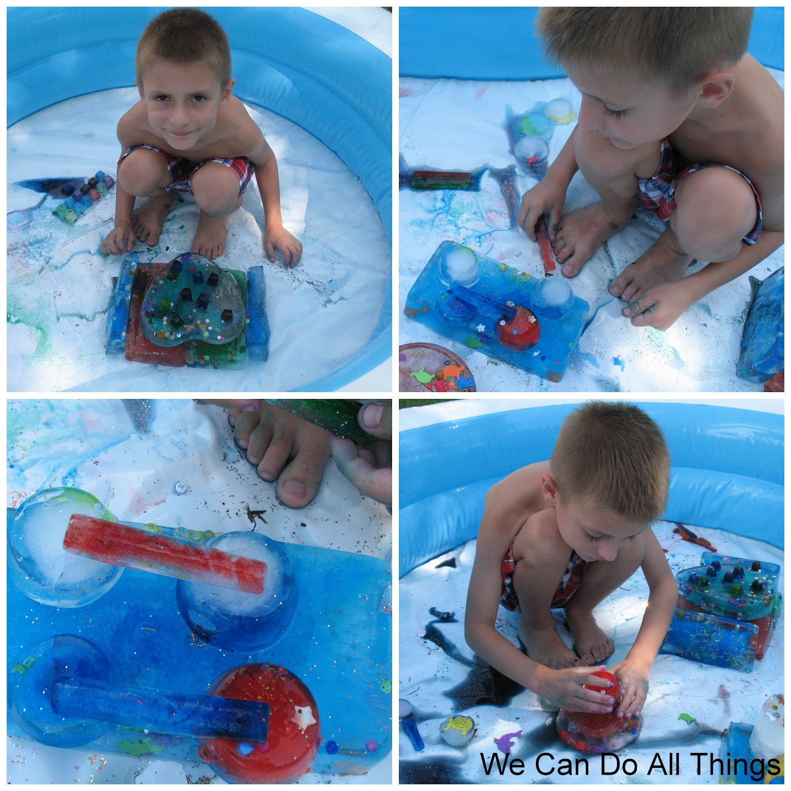 we can do all things Icy Fun Sensory Play