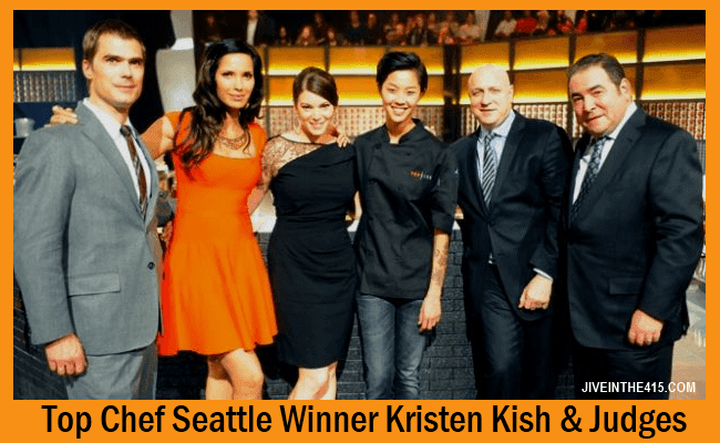Top Chef Seattle Season 10 Winner Kristen Kish and the Judges