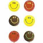 Smiley Faces Lollipop Choc