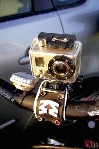 rower z zainstalowaną kamerą GoPro