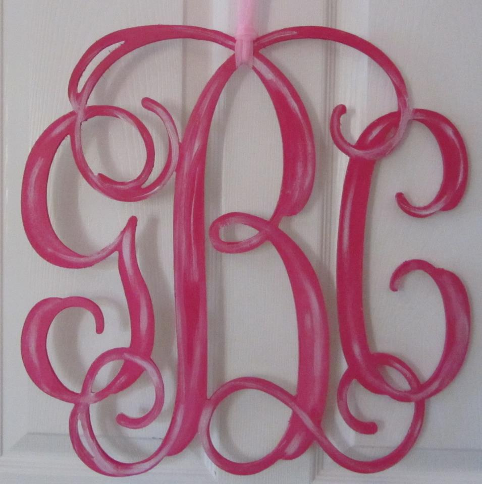Ten23 Designs Introducing Wooden Cut Out Monograms