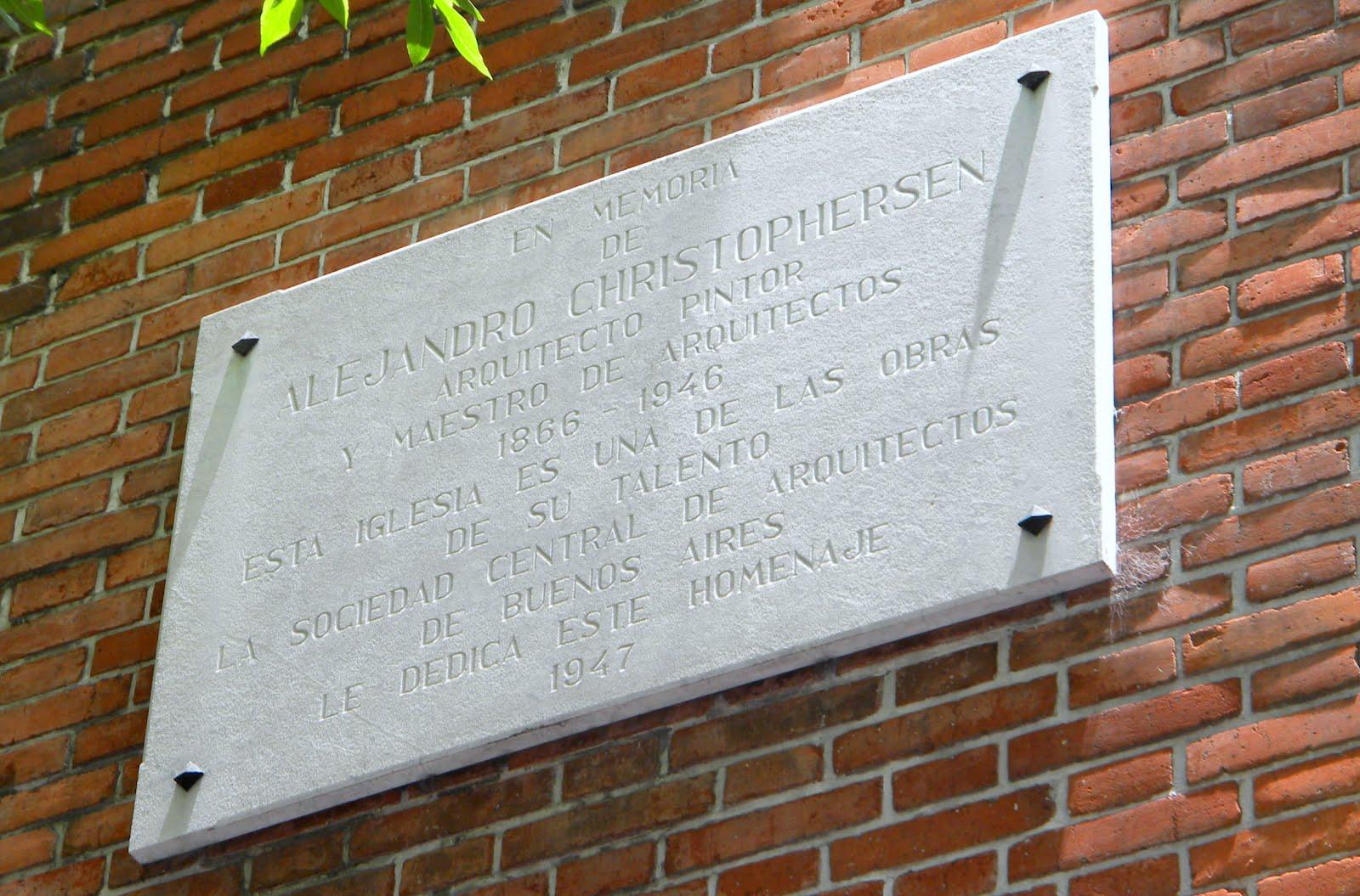 Homenaje al arq alejandro christophersen cat logo on line de su obra pasco 435 iglesia - Sociedad de arquitectos ...