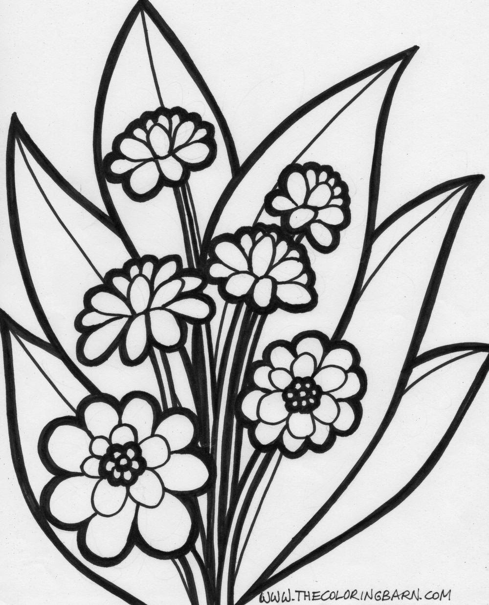 Coloring pages of flower buds - Coloring Pages Of Flower Buds Flower Coloring Pages Printable Free Flower Coloring Pages 8