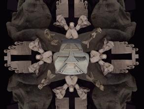 """Intervención escultórica """"Invección psiquicoeléctrica"""" en el Ex Teresa Arte Actual"""