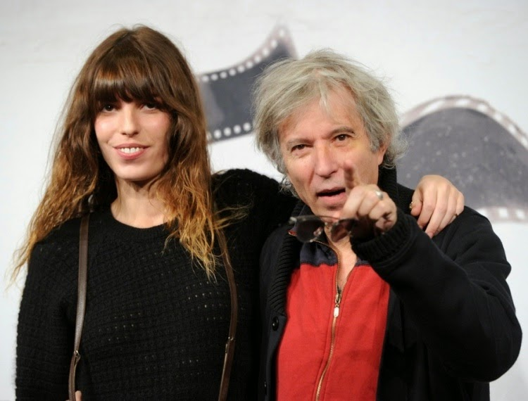 Lou (his daughter) & Jacques Doillon.
