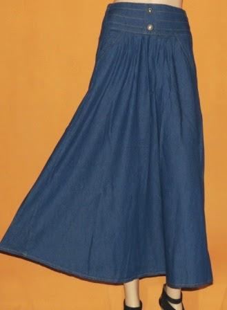Rok Muslimah Bahan Jeans RM290