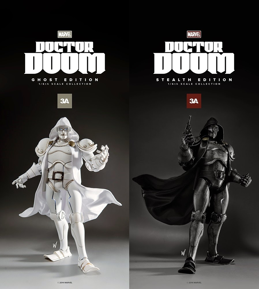 ThreeA x Marvel Doctor Doom 16 Scale Action Figures - Ghost Edition & Stealth Edition