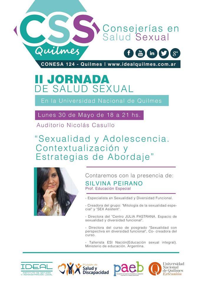 """""""II Jornada De SALUD Sexual - """"Sexualidad y Adolescencia. Contextualización y Estrategias de Abord"""