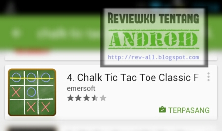 Screenshot ikon permainan CHALK TIC TAC TOE oleh rev-all.blogspot.com