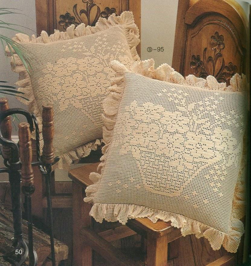 Patrones de almohadón con crochet filet