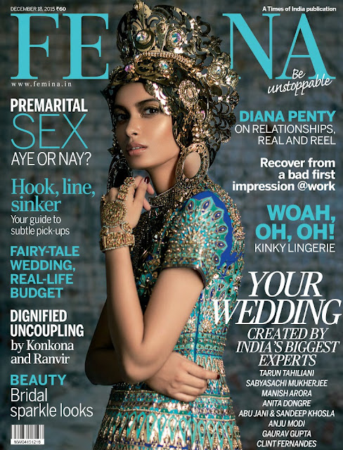 Actress, Model, @ Diana Penty - Femina Indian, December 2015