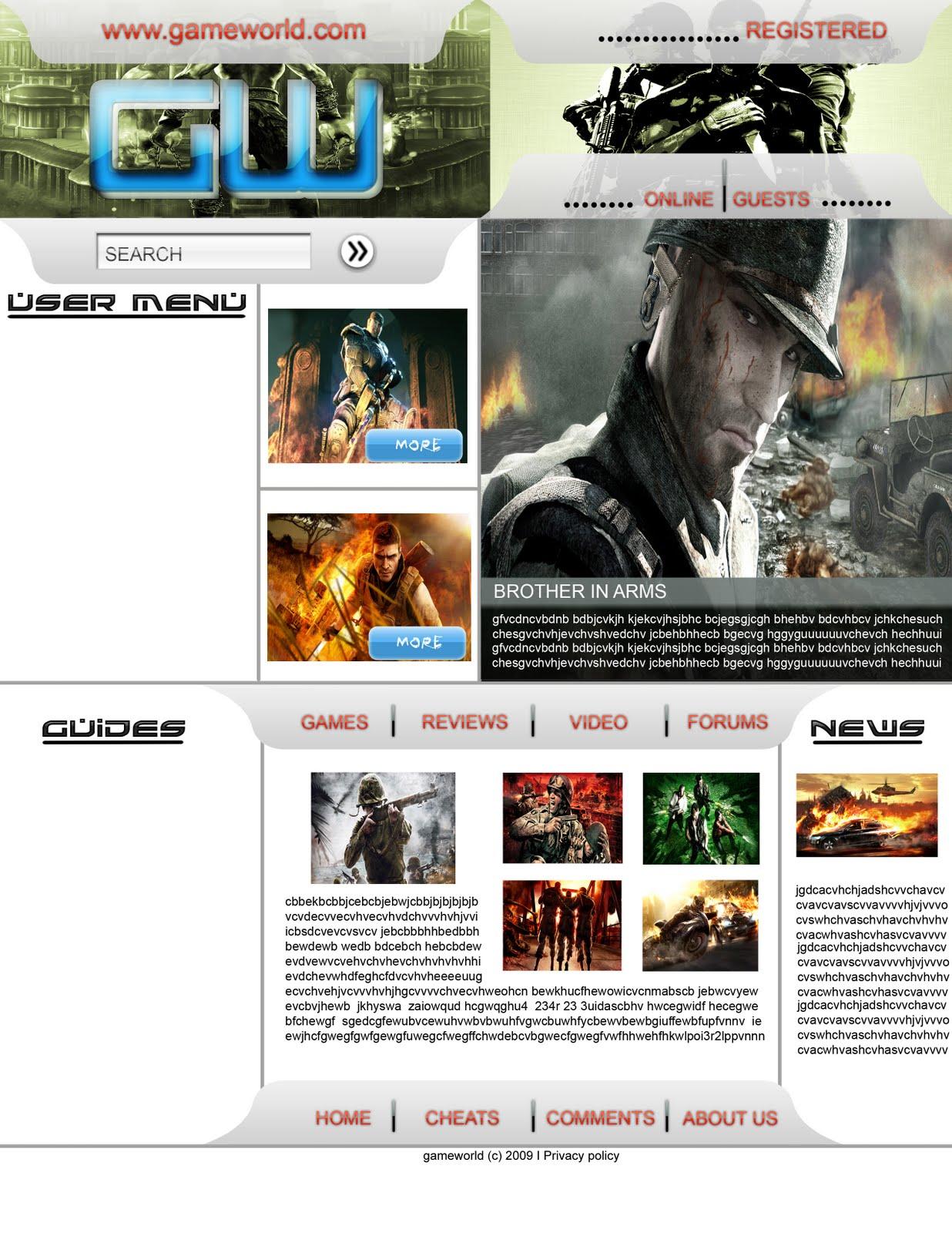 3d Treasure Web Design Layout In Photoshop