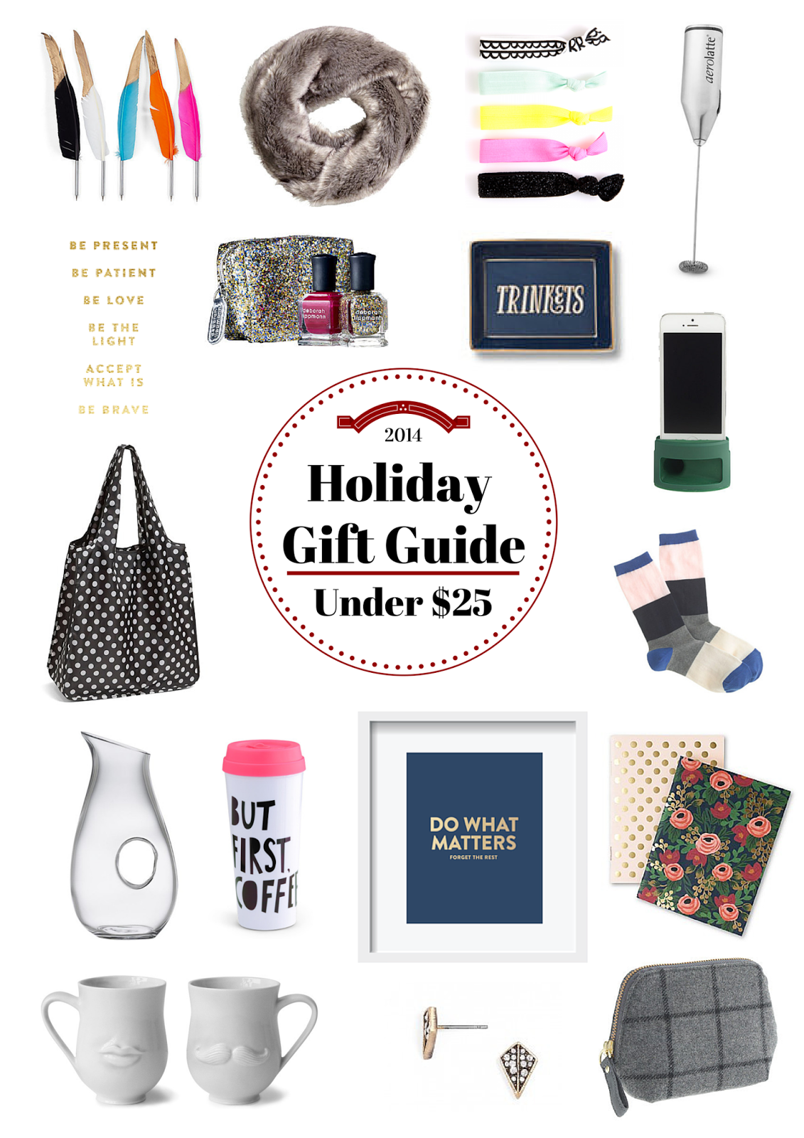 Holiday, Gift Guide, Project Soiree, Under $25