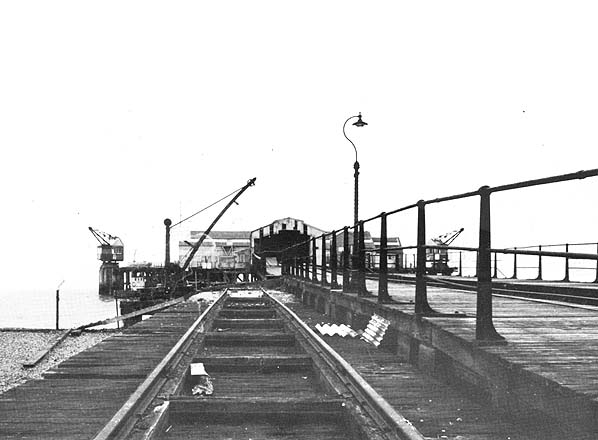 View along pier