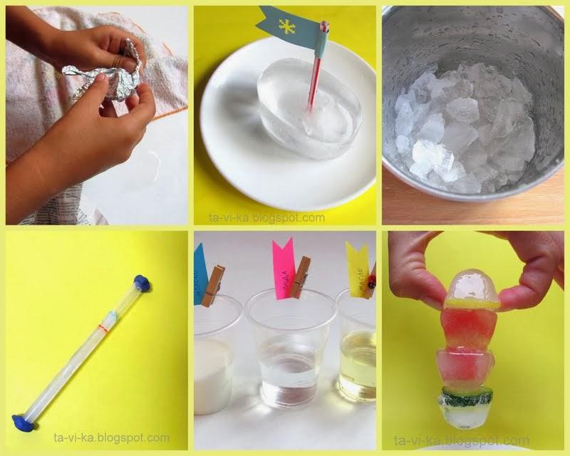 опыты со льдом для детей