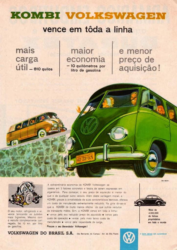 Propaganda da Kombi (Volkswagen) - Anos 60