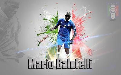 Super Mario Balotelli Wallpaper Design 2012