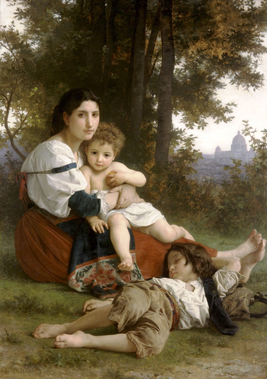 Mother and Children. 1879. Óleo sobre tela - 107 x 164 cm