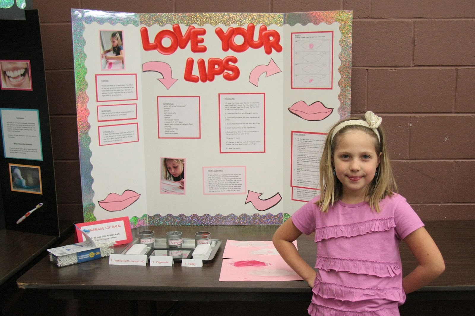 Molly discovered that it's good to protect your lips and that the best ...