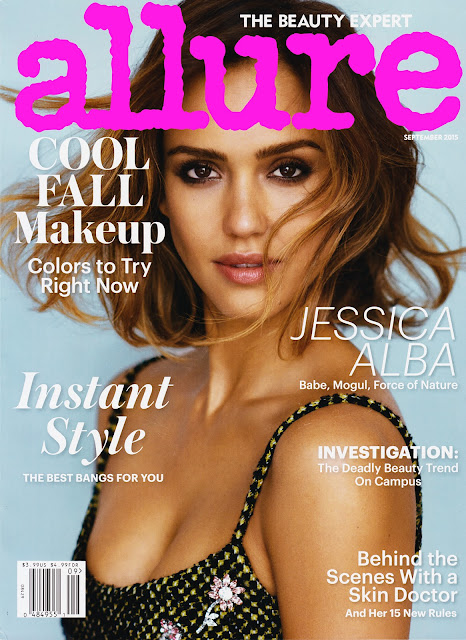 Actress, Model @ Jessica Alba - Allure , September 2015