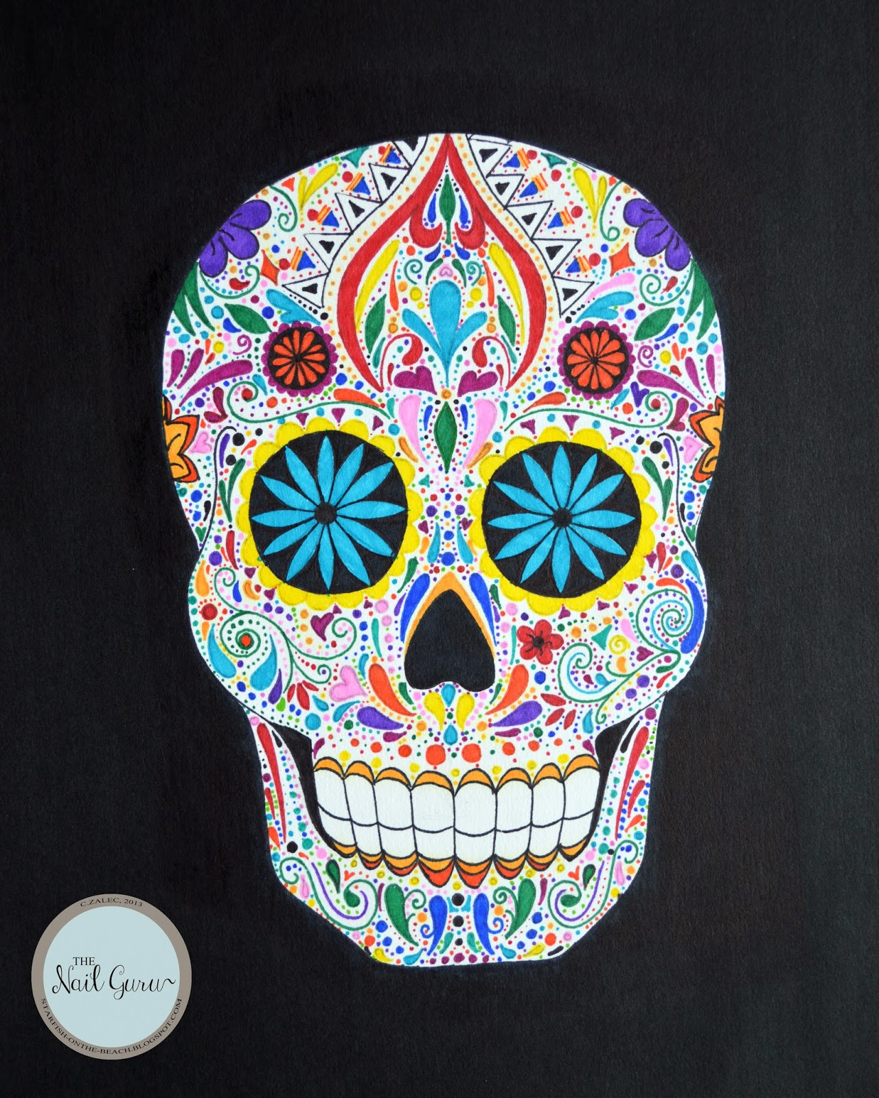 the gallery for gt colorful sugar skull drawings