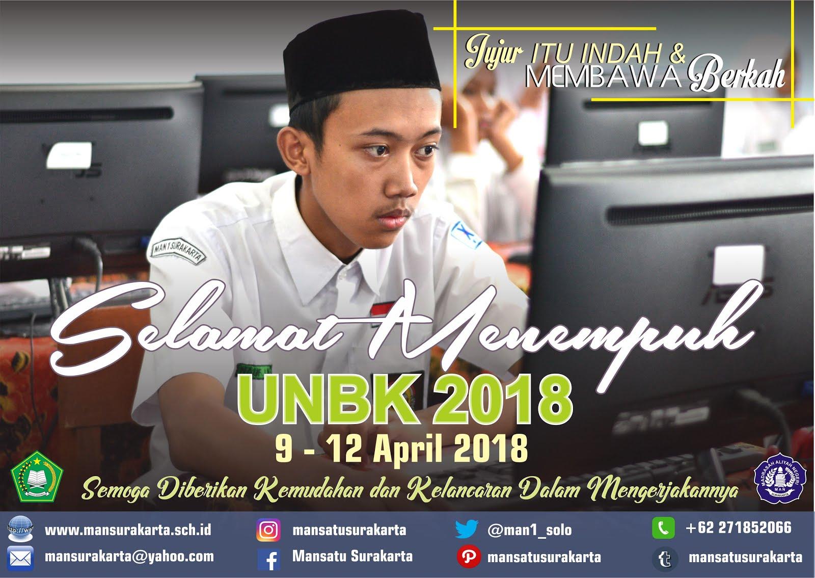 SELAMAT UNBK 2018